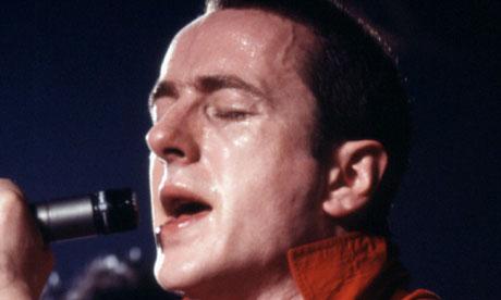 Joe Strummer on stage in 1980