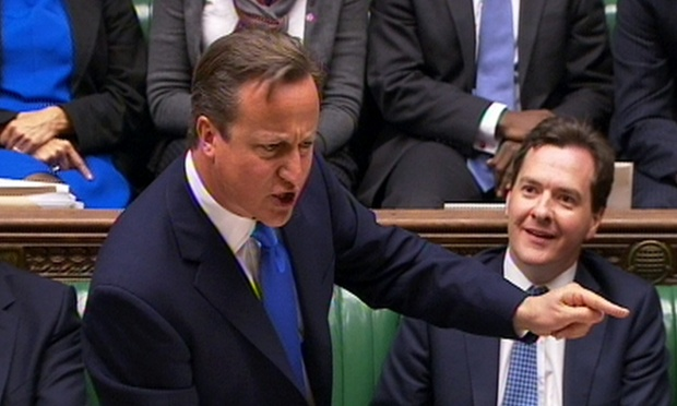 David Cameron is taking PMQs today.