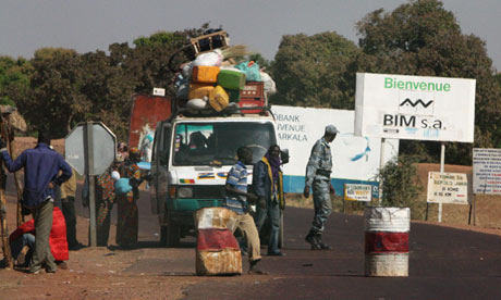 Bus at checkpoint Mali