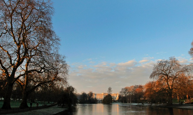 Buckingham Palace is illuminated by the morning light, as seen from St James's Park in London. A severe cold snap is on its way with blizzards and snow expected