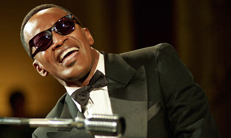 Jamie Foxx as Ray Charles in Ray.