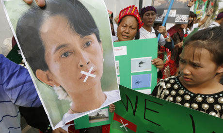 Overseas Kachin communities protest Myanmar bombardments