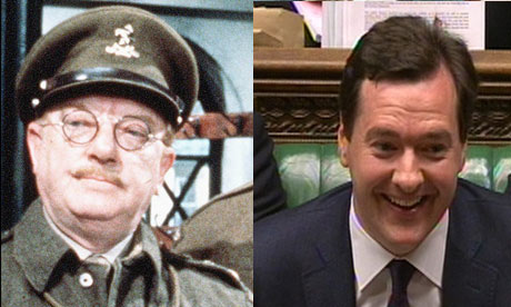 Captain Mainwaring and George Osborne