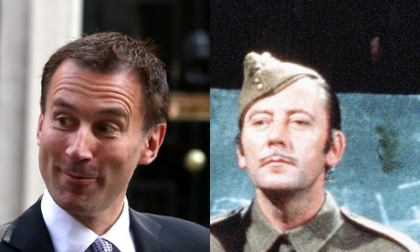 Private Joe Walker and Jeremy Hunt