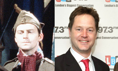 Private Frank Pike and Nick Clegg