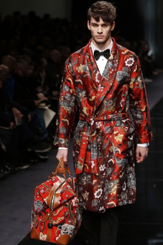 Black tie affair: More from the Louis Vuitton collection.