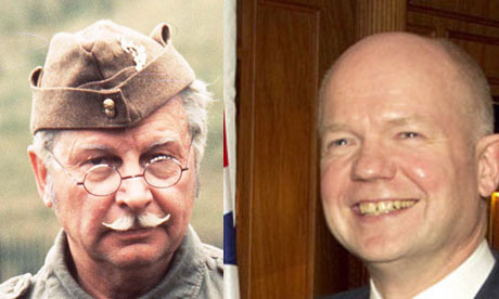 Lance Corporal Jones and WIlliam Hague