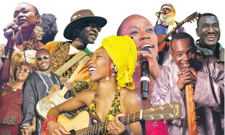 Mali: Sangare, Amadou and Mariam, Farka Toure, Diawara, Traore, Tinariwen, Diabate and Kouyate.