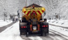 A council gritter spreads grit on roads in Bath on January 18, 2013 in Bath, England.