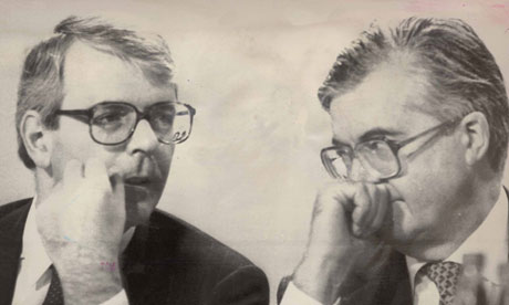 Kenneth Baker <em>(right)</em> with John  Major at the Conservative party conference, 1989.