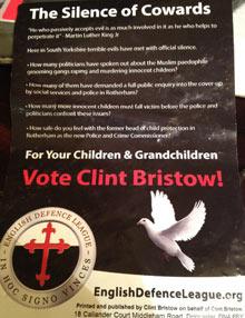 EDL election leaflet