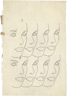 Andy Warhol drawing 2 001 Andy Warhols unseen early drawings unveiled next week