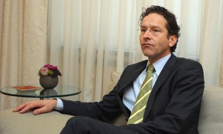 Netherlands' finance minister, Jeroen Dijsselbloem.