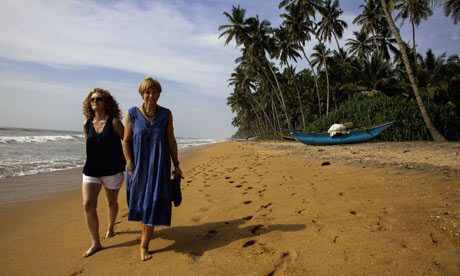 Anne Robinson and her daughter Emma in Sri Lanka