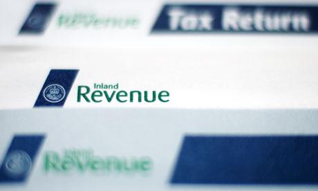Inland Revenue tax return form.