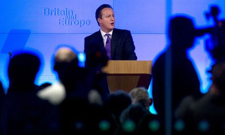 David Cameron speaking at Bloomberg