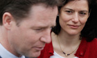 Nick Clegg and his wife Miriam González Durántez