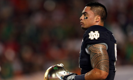 Manti Te'o in action for Notre Dame