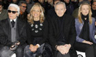 Bernard Arnault at Christian Dior Paris Fashion Week