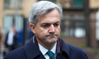 Chris Huhne arrives at Southwark crown court in London