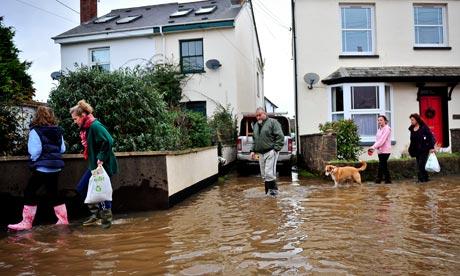 Flooding in Devon