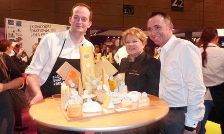 Matthew Feroze with his winning cheese platter