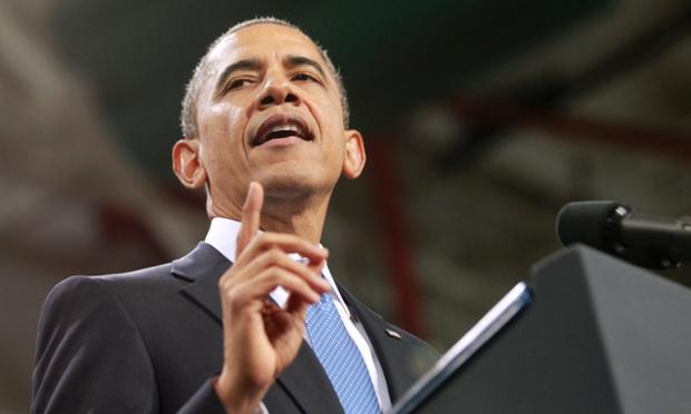 Barack Obama speaks on immigration at Del Sol High School in Las Vegas.