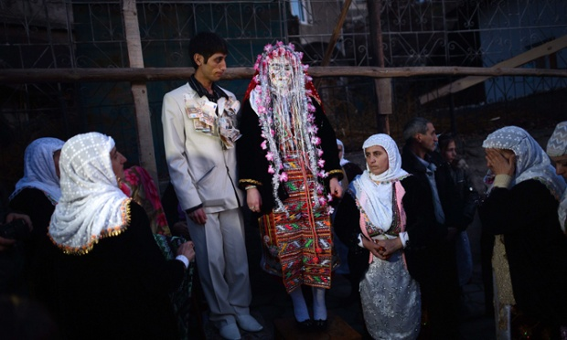 Fatme and Djamal Sirakov are married in a unique wedding ceremony in the mountain village famous for only being performed during the winter.