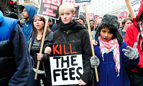 Tuition fees protest in London on 30 Nov 2010
