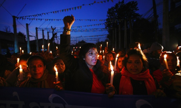 Nepalese women hold a candle lit rally in Kathmandu to protest against what they say is an increase in violence against women. They are demanding that the government implements stronger laws and takes firm action against perpetrators.