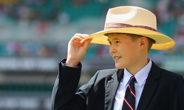 In a tribute to his dad, Tom Greig, son of the late Tony Greig wears Tony's hat during day one of the Third Test match between Australia and Sri Lanka at Sydney Cricket Ground. Tony Greig was a former England test captain turned commentator who died of a heart attack on the 29th of December at age 66.