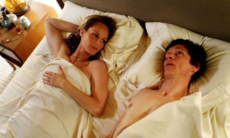 John Hawkes as polio sufferer Mark O'Brien and Helen Hunt as his sex