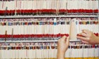 Woman filing medical records