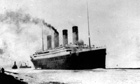 the Titanic departs Southampton