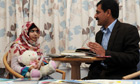 Malala Yousafzai with her father Ziauddin
