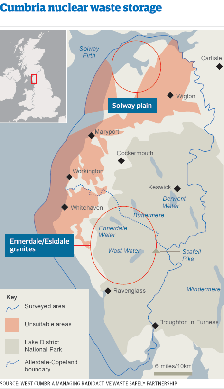 Map - Cumbria nuclear waste storage survey