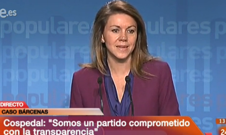 María Dolores de Cospedal, secretary general of the PP.