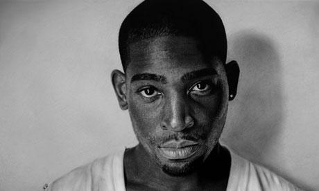 Kelvin Okafor's portrait of Tinie Tempah.