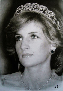 Kelvin Okafor's portrait of Princess Diana.