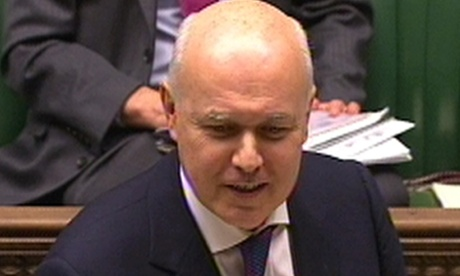 Iain Duncan Smith, the work and pensions secretary.