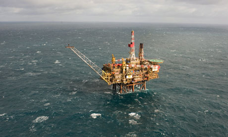 Shell's Gannet Alpha platform in the North Sea