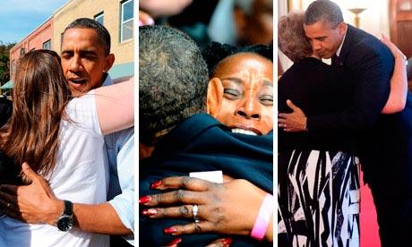 Obama hugs composite