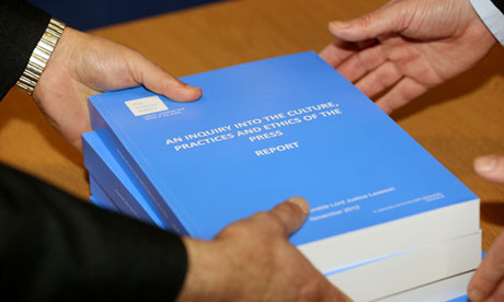 Volumes of the Leveson report