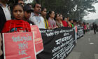 Activists in Dhaka, Bangladesh protest against rape