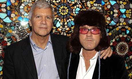 Larry Gagosian and Damien Hirst in 2007