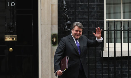Lord Strathclyde leaves Downing Street after announcing he is to return to the private sector