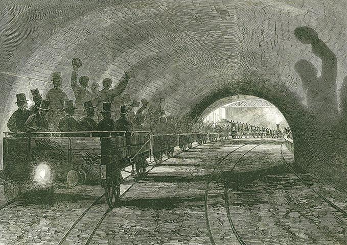 Труба через десятилетия: пробную поездку на митрополита линии, около 1754