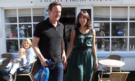 David and Samantha Cameron.
