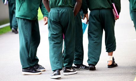 Inmates at young offenders unit in UK