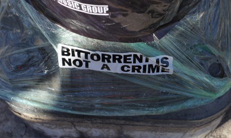 A BitTorrent sticker.